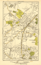 FINCHLEY. Church End, Hampstead Garden Suburb, Mill Hill, Hendon 1923 old map